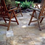 Thumbnail image for A Garden Walkway With Travertine Pavers